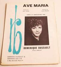 Partition vintage sheet music DOMINIQUE DUSSAULT : Ave Maria * 60's