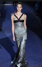 GUCCI by Tom Ford Runway 2005 Gown Dress Authentic Beaded Black Teal Blue 40 4
