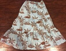 Disney Store Tiki Kingdom Tier Skirt Mickey Minnie Mouse Tropical Print XS