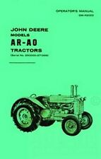 John Deere Model AR - AO Tractor Operators Manual 250k+