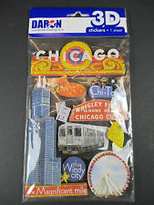 Chicago USA Amerika,3 D Sticker Set 11 tlg. Reise Souvenir,NEU