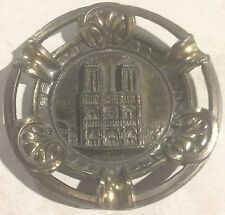vintage NOTRE DAME CATHEDRAL BRASS ASHTRAY polyor MADE IN PARIS FRANCE very rare