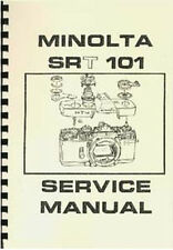 Minolta SR-T 101 Service and Repair Manual