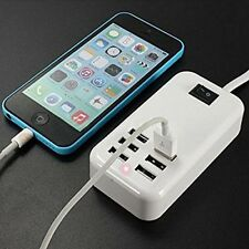 6 Port USB Universal Fast Wall Charger for iPad 2 3 4 iPhone 4 5 S 6 S + Samsung