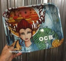 "New OCB Cigarette Papers Brand Metal Rolling Tray 14"" x 11"" Artwork Series Large"