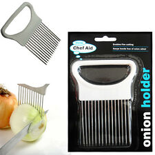 Qualità CIPOLLA Holder chefaid Easy Cut Slice Hand Held patate verdure cucina affettatrice