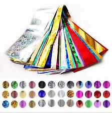 50x Women's Nail Art Transfer Wrap Foils Glitter Sticker Polish Decal Decoration
