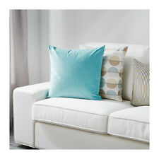 Ikea Sanela Cushion Cover Turquoise Velvet Pillow Cover 100% Cotton - New