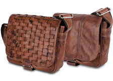 "BULL&HUNT® twenty-five Herren Messenger-Bag ""Wafer Washed"" Büffel-Leder, braun"