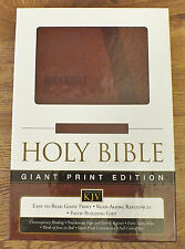 HOLY BIBLE KJV LARGE PRINT - New Leathersoft Cover - KING JAMES VERSION - Toffee