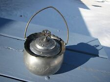 ANTIQUE VICTORIAN B.G. UHER SILVER CO. CRACKER CONTAINER CANISTER KITCHEN DECO