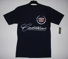 SIZE XL  AUTHENTIC CADILLAC   SCREEN PRINTED T- SHIRT  XL NAVY  WITH TAG