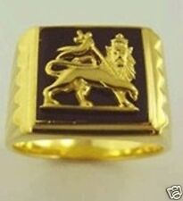 New Lion of Judah Ring Bob Marley all sizes full Gold 14 Carat Marley