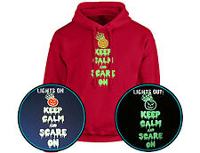 Keep Calm And Scare On Halloween GLOW IN THE DARK Unisex Hoodie 10 Colours (S-5X
