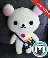 "13"" Japan San-X Korilakkuma Rilakkuma Bear Purse Cute Soft Plush Toy UFO Catcher"