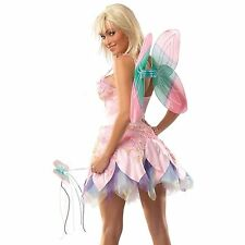NEW FAIRY Sexy Deluxe Adult Women's Coquette FANTASY Costume Rainbow Size S/M