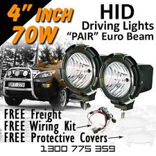 HID Driving Lights - Compact 4 inch 70w PRO EURO Beam 4x4 4wd Off Road 12v 24v