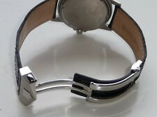 24mm Carrera Monaco Band Strap Crocodile-Style w/ Deployment Clasp for TAG Heuer