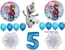 OLAF FROZEN BLUE 5th BIRTHDAY PARTY BALLOONS Decorations Supplies Disney Snow