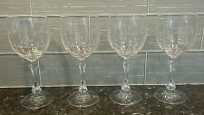 4 Vintage Towle Crystal Goblets Wine Glasses - Austria - 11 ounce - Spear