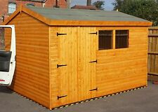 SHED 10X8 HeavyDuty T&G 3x2 FRAMING DOUBLE DOORS FREE DELIVERY/FITTING