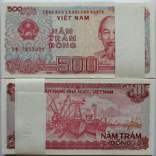 One Bundle of 100pcs Vietnam Viet Nam 500 Dong,1988,P-101,Uncircula ted