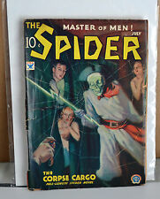 VTG PULP Master Of Men The Spider Vol 3 #2 July 1934 G/VG Corpse Cargo N
