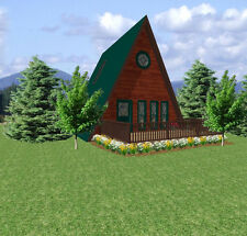 A-FRAME CABIN PLANS 24 X 24 WITH FREE GREENHOUSE PLANS