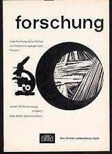 3w788/ Alte Reklame - von 1961 - CARL ZEISS - Oberkochen/Württ.