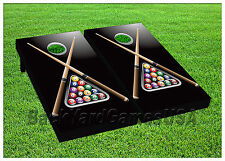 VINYL WRAPS Cornhole Boards DECALS Pool Billiard Game BagToss Game Stickers 515