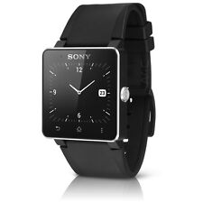 OEM Sony SmartWatch 2 SW2 For Android Cell Phones w/ Silicon Wristband - Black
