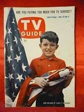 NO LABEL June 28 TV GUIDE 1958 LEAVE IT TO BEAVER Jerry Mathers Yvonne Craig