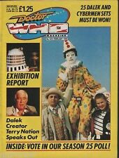 Doctor Who Magazine #145 Fury From Deep Terry Nation Interview Exhibitions