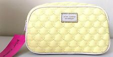 Betsey Johnson Large Loaf Cosmetic Bag Clutch Make up Case Travel Yellow NWT