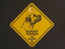 Border Terrier On Board Dog Breed Yellow Car Swing Sign Gift