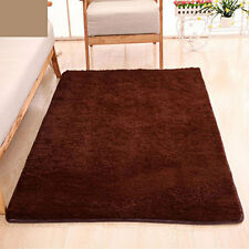 Fluffy Rugs Anti-Skid Home Dining Bedroom Carpet Rectangle Floor Mat Coffee