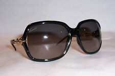 NEW GUCCI SUNGLASSES GG 3584/S REW-EU BLACK GOLD/GRAY AUTHENTIC