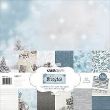Frosted Collection Winter Christmas 12X12 Scrapbooking Kit Kaisercraft New PK543