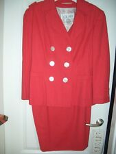 LUXUS DESIGNER ESCADA COUTURE BLAZER rot laurel 40/42/44 NP1120,- STATEMENT Golf