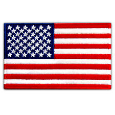"AMERICAN BEST USA FLAG US EMBROIDERED PATCH IRON-ON EMBLEM 4"" x 2.5"" SIZE M"