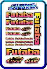 FUTABA SERVO RADIO RX TX 2.4G FLIGHT REMOTE CONTROL STICKERS FASST PINK YELLOW B