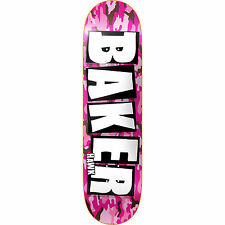 BAKER - RILEY HAWK BRAND NAME PINK CAMO SKATEBOARD DECK 7.875 INCH - FREE GRIP