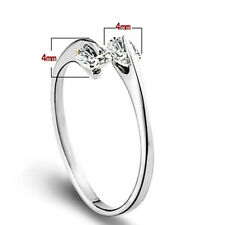 Fashion 925 Plated Silver Double Diamond Opening Adjustable Finger Toe Ring