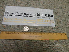 Herald King decals Large Scale G S O  Gauge Mount Hood Railroad    P10