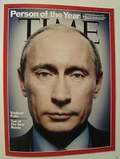 VLADIMIR PUTIN PERSON OF THE YEAR TIME MAGAZINE COVER PAGE PHOTO ON 4 X 6 GLOSSY
