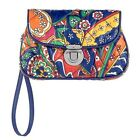NWT Authentic Vera Bradley Puffy Wristlet in Venetian Paisley
