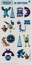 MONSTERS INC UNIVERSITY temporary TATTOOS ~  Birthday Party Supplies Favor MIKE
