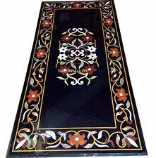 4'x2' Marble Dining Coffee Table Top Rare Marquetry Inlay Floral Art Decor H2490