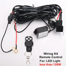 Remote Control Wiring Harness Kit Switch Relay Led Light Bar 120W 24W 36W 18W 2M