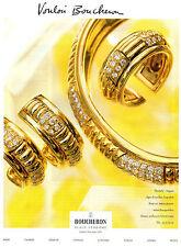 Publicité 2000 BOUCHERON  joaillier bijoux collier bague bracelet collection